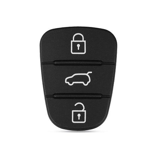 KEYYOU 3 Button Remote Key Fob Case Rubber Pad For Hyundai I10 I20 I30 IX35 for Kia K2 K5 Rio Sportage Flip Key