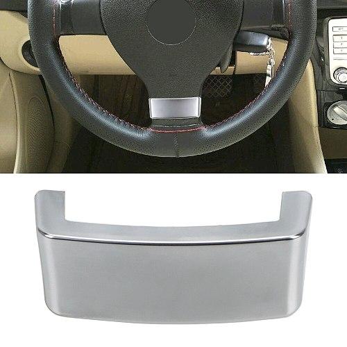 LEEPEE Car Steering Wheel Trim Sequin Cover Chrome Emblem Insert Trim Cover Fit for VW Golf MK5 Plus GTI Passat B6 3C Eos Jetta