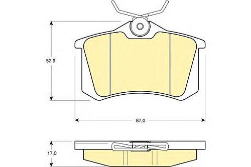 C3XR Rear Brake pads set auto car PAD KIT-FR DISC BRAKE for SAIC MG3 MG5 ROEWE 350 Automobile PSA Peugeot Citroen part 10030811