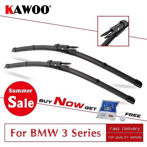 KAWOO for BMW 3 Series E36 E46 E90 E91 E92 E93 F30 F31 F34 From 1993 To 2017 Car Wipers Blade Fit U Hook/Pinch Tab/Side Pin Arms