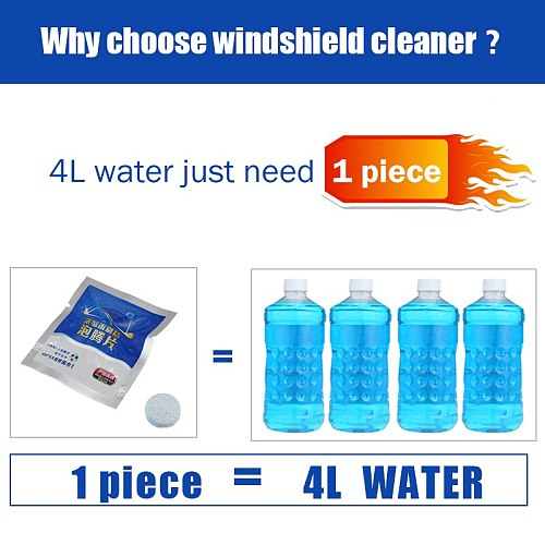Cars Glass Water Auto Windscreen Cleaning Agent Pills Amazing Windshield Cleaner Effervescent Tablets Wiper Fine Car Accessories