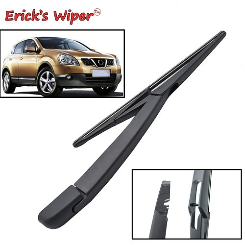 Erick's Wiper 12  Rear Wiper Blade & Arm Set Kit For Nissan Qashqai Dualis J10 J11 2007 - 2018 Windshield Windscreen Rear Window