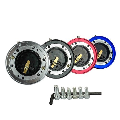 PQY - Thin Version 6 Hole Steering Wheel Quick Release Hub Adapter Snap Off Boss kit PQY3858
