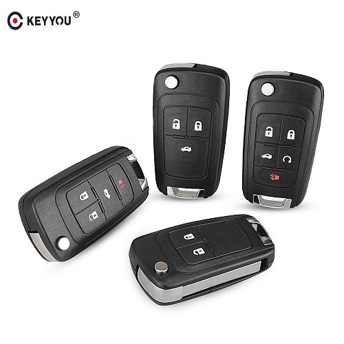 KEYYOU For OPEL/VAUXHALL For Astra J Corsa E Insignia Zafira C 2009 2010 2011 2012 2013 2016 Flip Folding Remote Key Case
