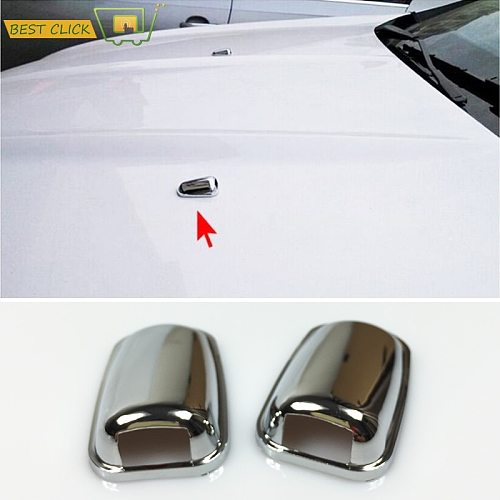 Chrome Front Windscreen Windshield Washer Head Water Spray Nozzle Wiper Water-jet Cover Trim For Ford Focus MK3 Mondeo MK4