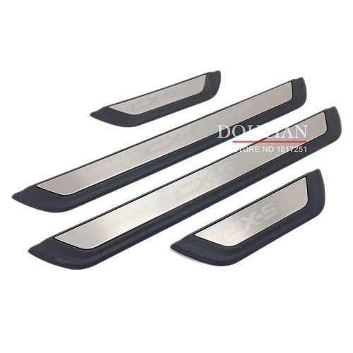 For Mazda CX-5 Cx5 2017 2018 2019 2020 Door Sill Scuff Plate Welcome Pedal Protection Stainless Steel Car Accessories