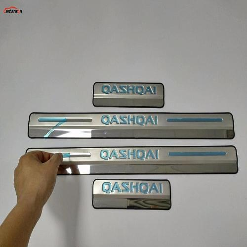 Car Accessories For Nissan Qashqai Door Sill J11 Scuff Plate Stainless Steel Door Sills Pedal Car Styling Sticker 2015 2017 2020