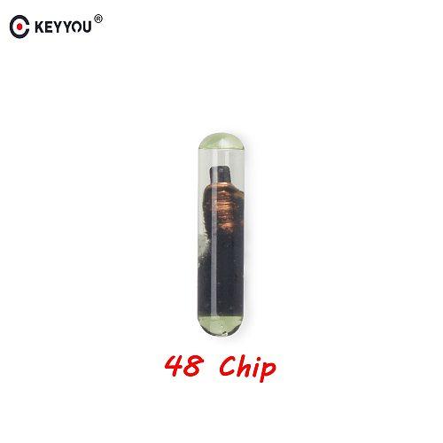 KEYYOU Car Key Glass Transponder ID48 ID 48 Chip T6 Crypto Unlocked Chip For VW Audi Seat Skoda Porsche