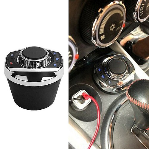 Universal Car Wireless Steering Wheel Control Button with LED Light 8-Key Functions for Car Android Navi Player Auto