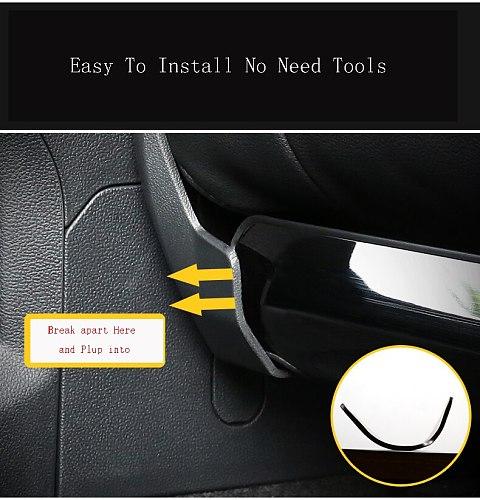 For Volkswagen For VW Tiguan Touran 2013-2018 2019 2020 Car Sticker Cover Seat Rear Back Protective Anti Kick Board Trim