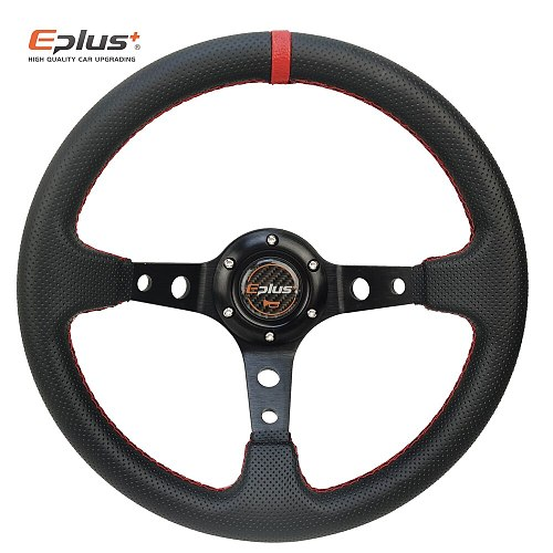 EPLUS Car Sport Steering Wheel PVC Racing Type High Quality Universal 13 Inches 320MM Aluminum Retrofit Modified Auto Styling