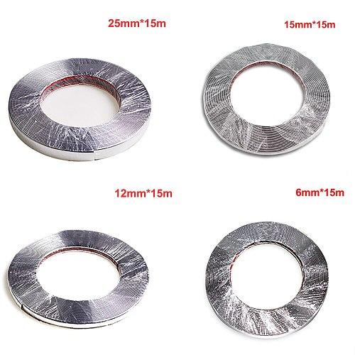 15M Silver Car window Chrome Decoration Moulding Trim Strip Tape Universal PVC anti-collision strip DIY Car body trim Sticker