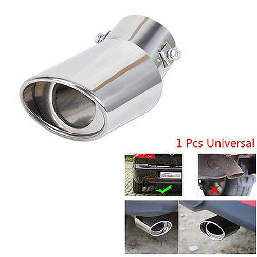 Universal Superior Car Exhaust Muffler Tip Round Stainless Steel Pipe Chrome Exhaust Tail Muffler Tip Pipe Silver Wholesale CSV