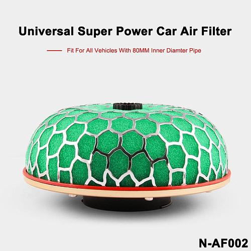 80mm/100mm Universal Air Filter Mushroom Head Universal Racing Car Air Filter Flow Air Intake System Reloaded Cleaner
