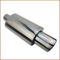 Car Exhaust System Muffler Tail Pipe Tip Universal High Quality Stainless Interface 51 57 63mm Exhaust Pipe Ses Bombası