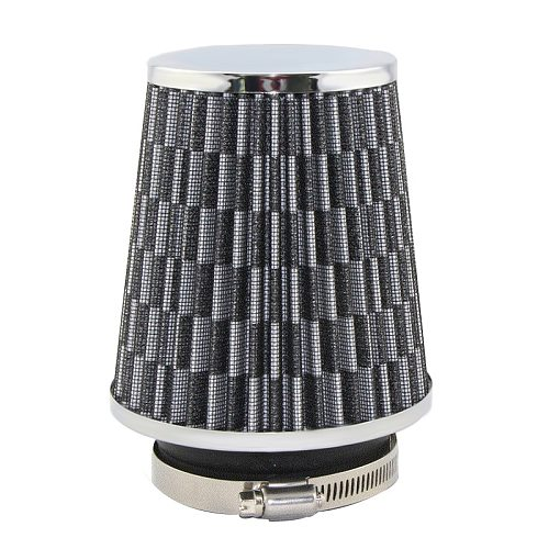 Universal Car Air Filter 76mm 3 Inch High Flow Car Cold Air Intake Filter Aluminum Non-woven Fabric Rustproof Air Intake Hose