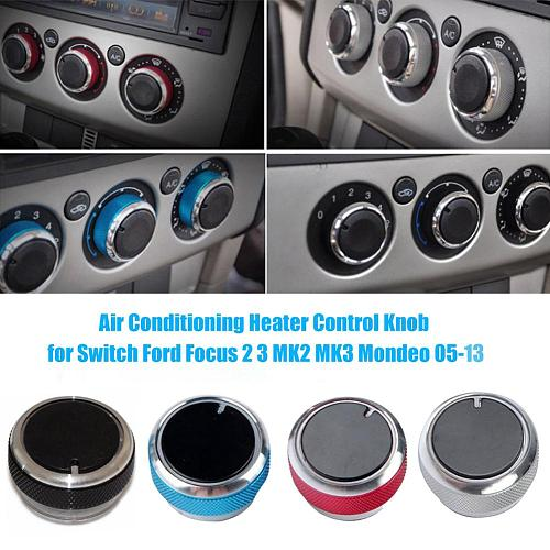 3Pcs Car Knob Car Air Conditioning Heater Control Knob Switch Cover For FORD FOCUS 2 MK2 2005-2014 for Focus 3 MK3 2012-2013