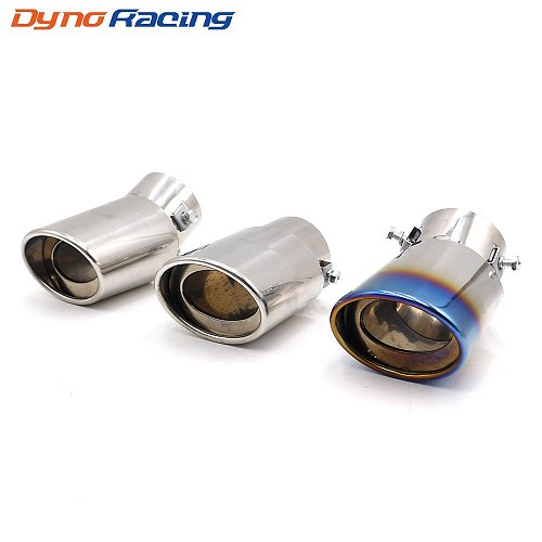 Universal Car Exhaust Muffler Tip Stainless Steel Elbow /Straight Pipe Modified Car Tail Throat Liner Pipe  YC101197