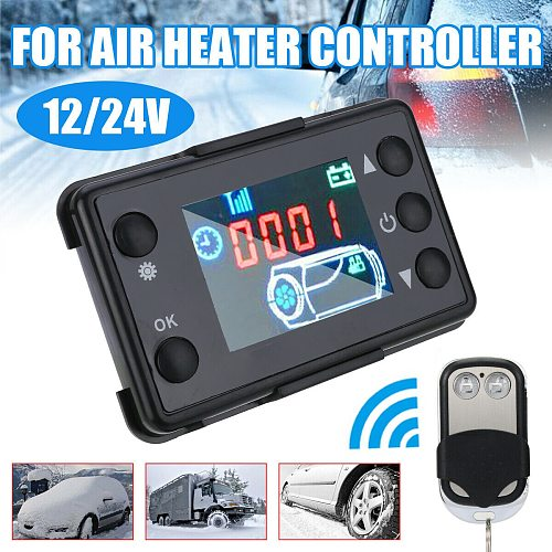 Car Vehicle Diesel Air Heater Controller Parking Heating LCD Monitor Switch Remote Control A C Heater Controls Accessories