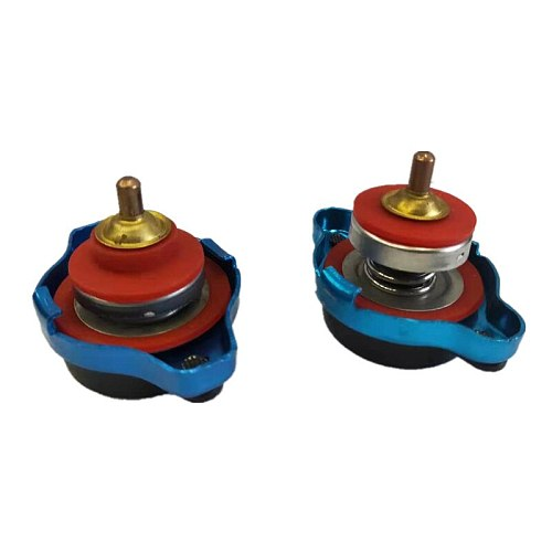 Car Motorcycle Styling SPSLD Thermo Radiator Cap Tank Cover Water Temperature Gauge with Utility Safe 0.9 Bar/ 1.1 Bar/1.3 Bar