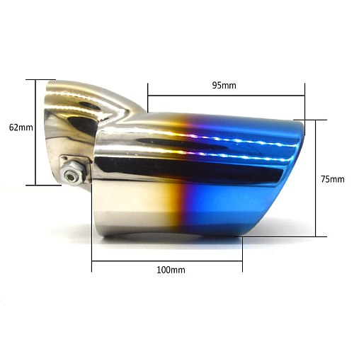 Universal Automobiles Exhaust Muffler Tip Stainless Steel Pipe Chrome Trim Modified Car Rear Tail Throat Liner Accessories