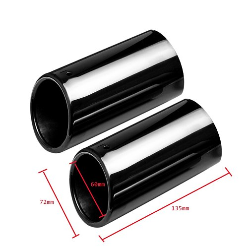 1 Pair Titanium Black Car Exhaust System Muffler Exhaust Tail Pipe Tip for BMW E90 E92 325i 328i 2006-2010 Auto Accessories