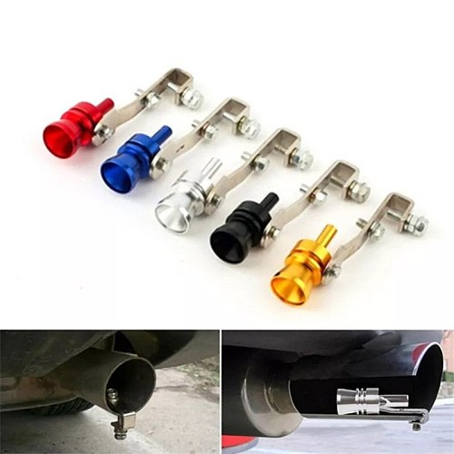 Universal Turbo Sound Color Auto Muffler Exhaust Pipe Whistle Simulator S/M/L/XL Car Tuning Turbo Whistler