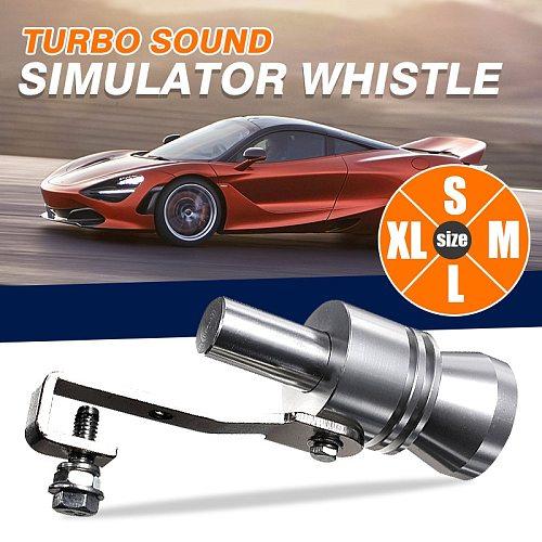 Universal Motorbike Car Exhaust Fake Turbo Whistle Pipe Sound Muffler Blow Off Valve Bov Universal Simulator Whistler S/M/L/XL