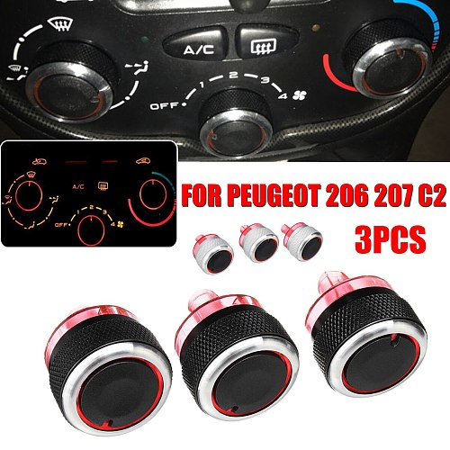 For PEUGEOT 206 207 C2 Switch Knobs A/C Heater Control Button  Air Conditioning Button Auto Accessories