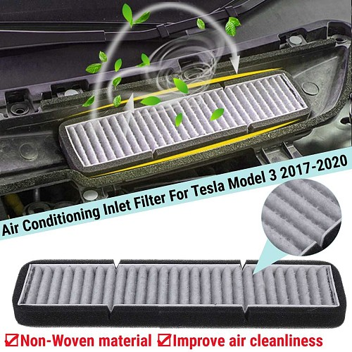 Car Air Conditioning Inlet Filter Replacement Accessory For Tesla Model 3 2017 2018 2019 2020