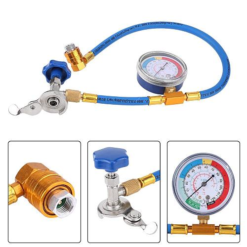 60cm R134a Refrigerant Measuring Hose Gauge Fluoride Tool Kit Car R134a Air Conditioning Pipe Auto Air-conditioning Accessories