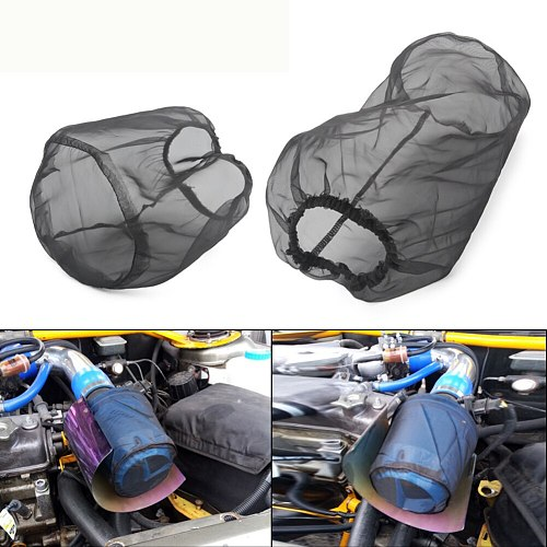 Auto Intake Dust Resistant High Flow Protective Cover Anti Oil Repair Accessories Car Waterproof Replacement Air Filter Reusable