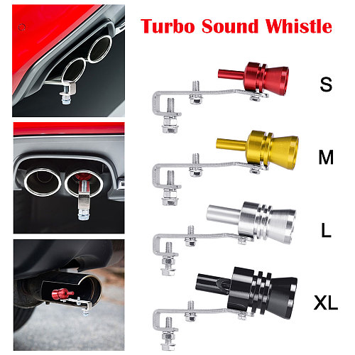 S-XL Size Motorbike Car Exhaust Fake Turbo Whistle Pipe Sound Muffler Blow Off Valve Universal Simulator Whistler 5 Colors