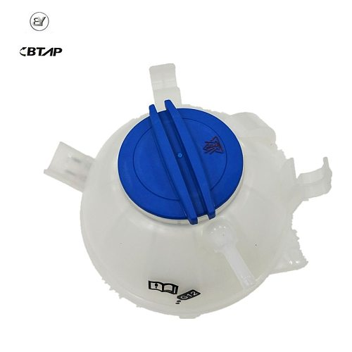 BTAP NEW Coolant Reservoir Expansion Tank + Cap For Audi A3 TT VW Jetta MK5 Golf MK6 Passat 1K0121407A 1K0 121 407 A 1K0121407