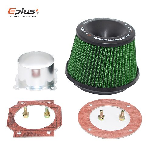 EPLUS Car Filters Air Intake System High Flow Filtre A Air Voiture Universal Connecting Base Red Green 3inch 76mm Automobiles