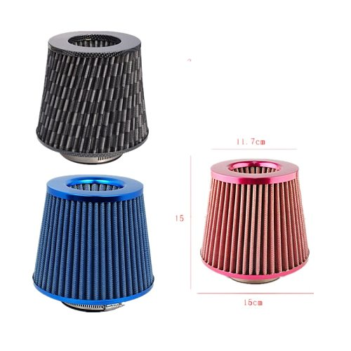 SPSLD Universal Car Air Filters Performance High Flow Cold Intake Filter Induction Kit Sport Power Mesh Cone 76MM