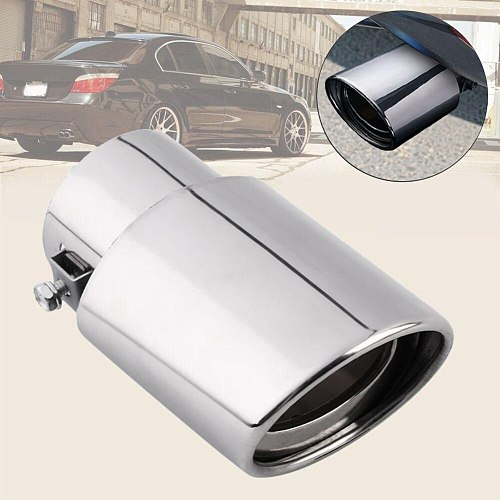 Universal Chrome Stainless Steel Car Rear Round Exhaust Pipe Tail Muffler Tip replacement Car Accessories