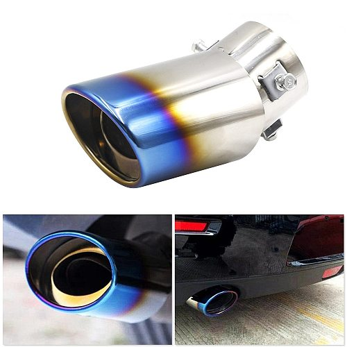 Universal Car  Muffler Tip Round Stainless Steel Pipe Chrome  Tail Muffler Tip Pipe Silver Car Accessories Muffler