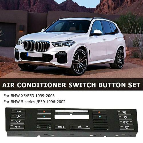Car Climate Control Air Conditioning Switch Button Cover For BMW X5/E53 E39 Brand New And High Quality