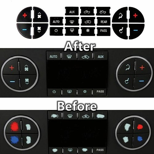 Dash Button Stickers Kit A/C For Chevrolet GMC Tahoe Parts Accessories Car