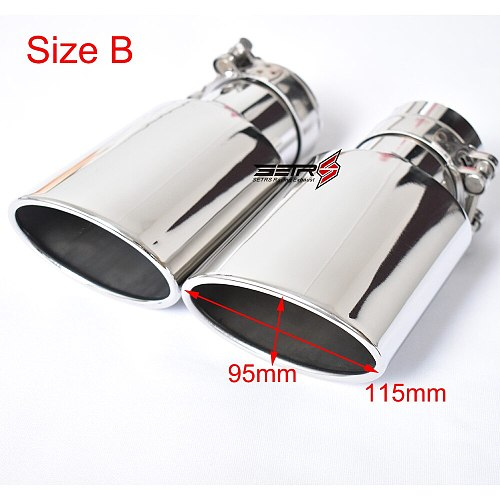 1 PC  Car Accessories Outlet 105 mm Oval Stainless Steel Universal Exhaust Tip Muffler Pipe For Reiz Carola