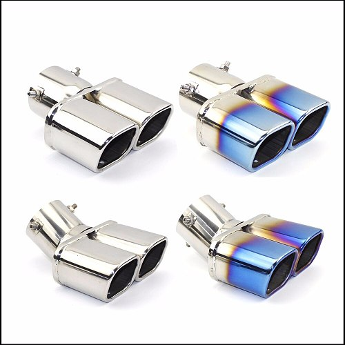 Exhaust Pipe Muffler Tail Pipe Outlet Nozzle End Universal Stainless Steel Plain End One Change Two Double Out ID 60MM 75MM