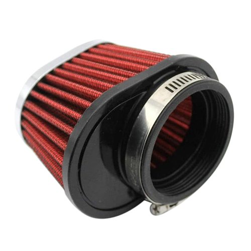 1Pcs Universal Round Tapered Car Motorcycle Air Filter 51mm 2 inch Intake Filter-Red
