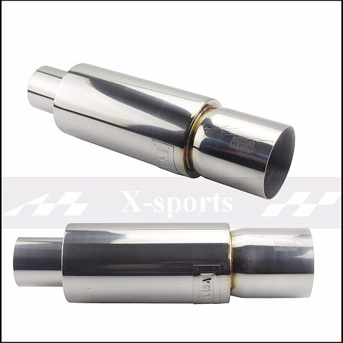 Car Exhaust Systems Muffler Tip Tail Pipe High Quality Universal Stainless Steel O.D 51 57 63 mm 5 Colors Silencer tail pipe
