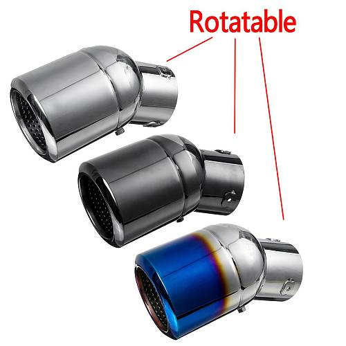 Universal Car Auto Exhaust Muffler Tip Stainless Steel Pipe Trim Modified Car Rear Tail Throat Liner Accessories inlet 63mm 76mm
