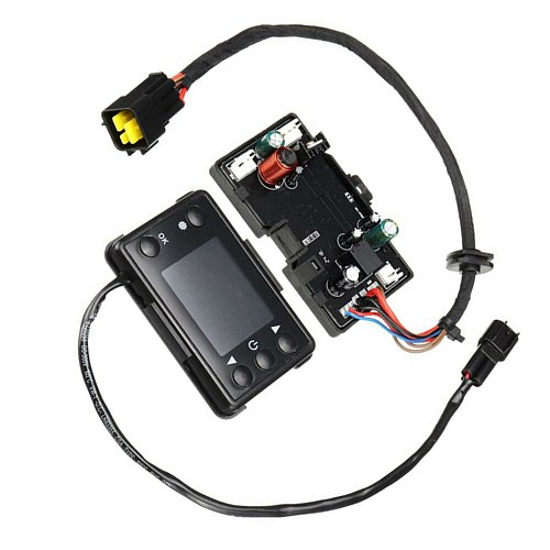 Black ABS Plastic Motherboard With LCD Controller Remote Control For 12V 3KW/5KW Diesels Air Heater Car Decoration Accessories