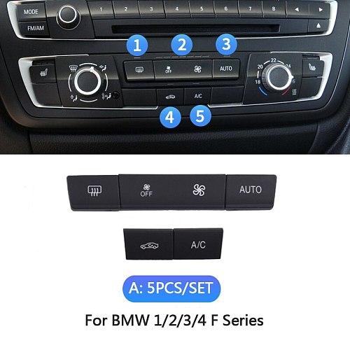 Dashboard Air Condition AC Button Key Cap Repair Kit For BMW 1 2 3 4 F Series F20 F30 F35 F45 F46 F80