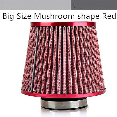 Universal Car Air Filter Vehicle Induction Kit High Power Mesh Cone Car Air Filter Carros Coche Kosh Red Black Blue Finish