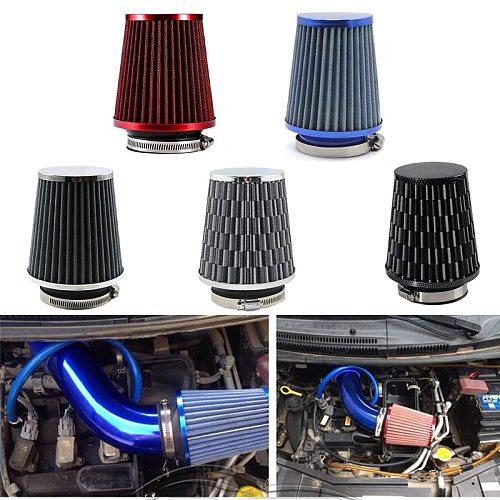 Universal Car Air Filter 76mm 3 Inch High Flow Car Cold Air Intake Filter Aluminum Non-woven Fabric Rustproof Air Intake Hose