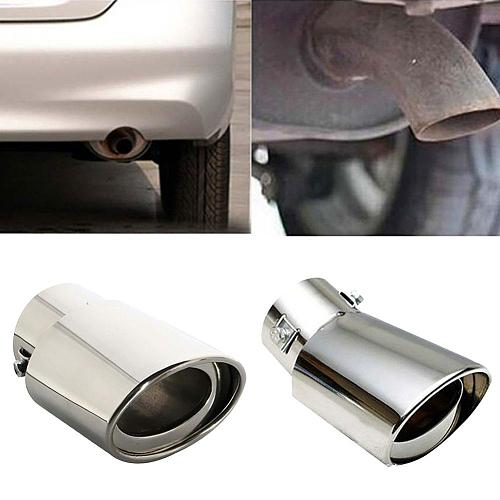 Universal Stainless steel Car Vehicle Rear Round exhaust  Pipe Tail Muffler Tip Chrome Throat Exhaust System Car Accessories